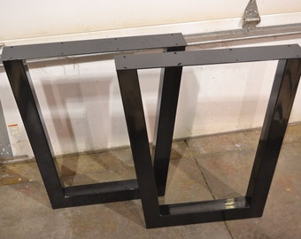 Industrial Steel Metal Table Legs, Tapered Style - Any Size & Color!