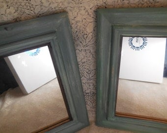 Painted Mirrors Shabby Chic Style Farmhouse Decor Country Cottage Style
