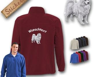 Cosy fleece jacket jacket embroidery dog SAMOYEDE Great gift idea