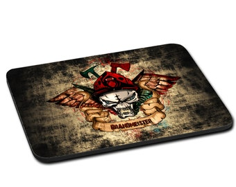 """MOUSEPAD printed with """"FIRE CHIEF"""""""