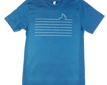 Shipping Forecast Typographic Art Deep Teal T-Shirt