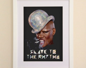 Grace Jones Slave To The Rhythm Art Print available in A4 or A3 printed on Archival Matte Paper
