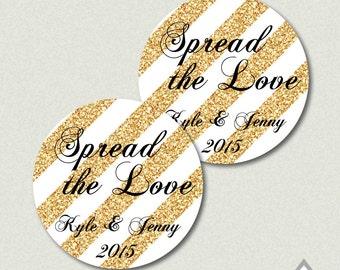 Spread the Love Favor Tags, Jam Favor Tags, Printable Jam Stickers, Wedding Jam Label, Printable Stickers, Gold Wedding, DIY Wedding Favors