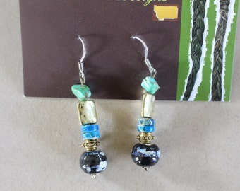 Multi turquoise earrings