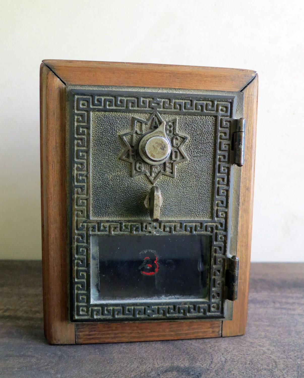 Po Box Door Coin Bank Post Office Box Wood Coin Bank