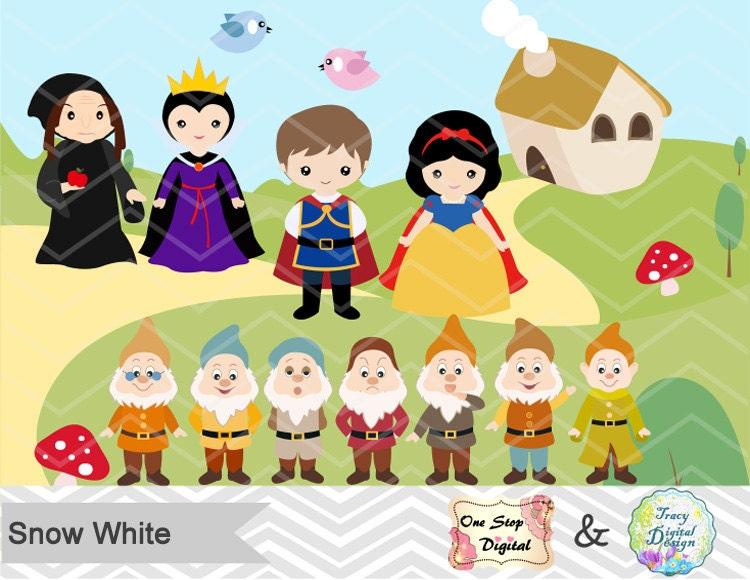 Snow White Clipart Snow White Digital Clip Art Princess Snow