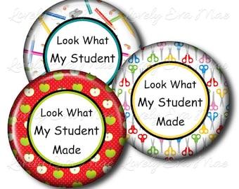 Set of 3, Student's Artwork Magnet, Art Magnet, Kid's, Personalized Magnet, Art Display, Child's, Refrigerator Magnet, Mother's Day, Fridge