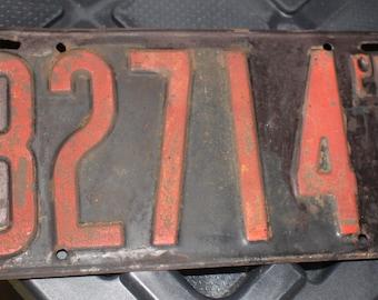 Antique Pennsylvania License Plate 1919