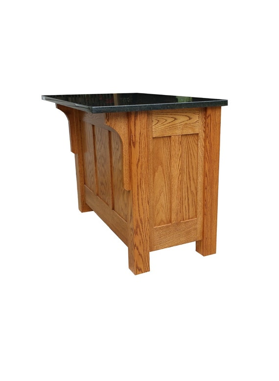 30x48 Mission Style Kitchen Island With Granite
