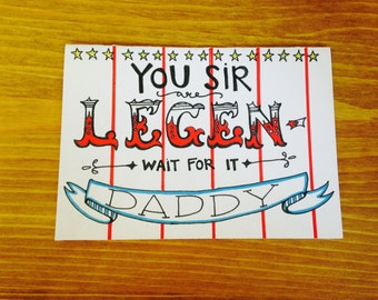 LEGEN-Daddy Father's Day Card