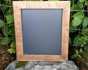 "Small Rustic Menu chalk Board, reclaimed wood chalkboard,  chalkboard sign,  12"" x 10 1/2""  wedding chalkboard sign."