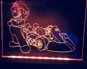 plumber kart light up sign.