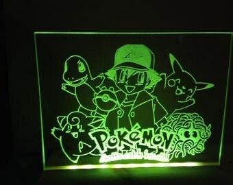 Pokemon . light up sign illuminated