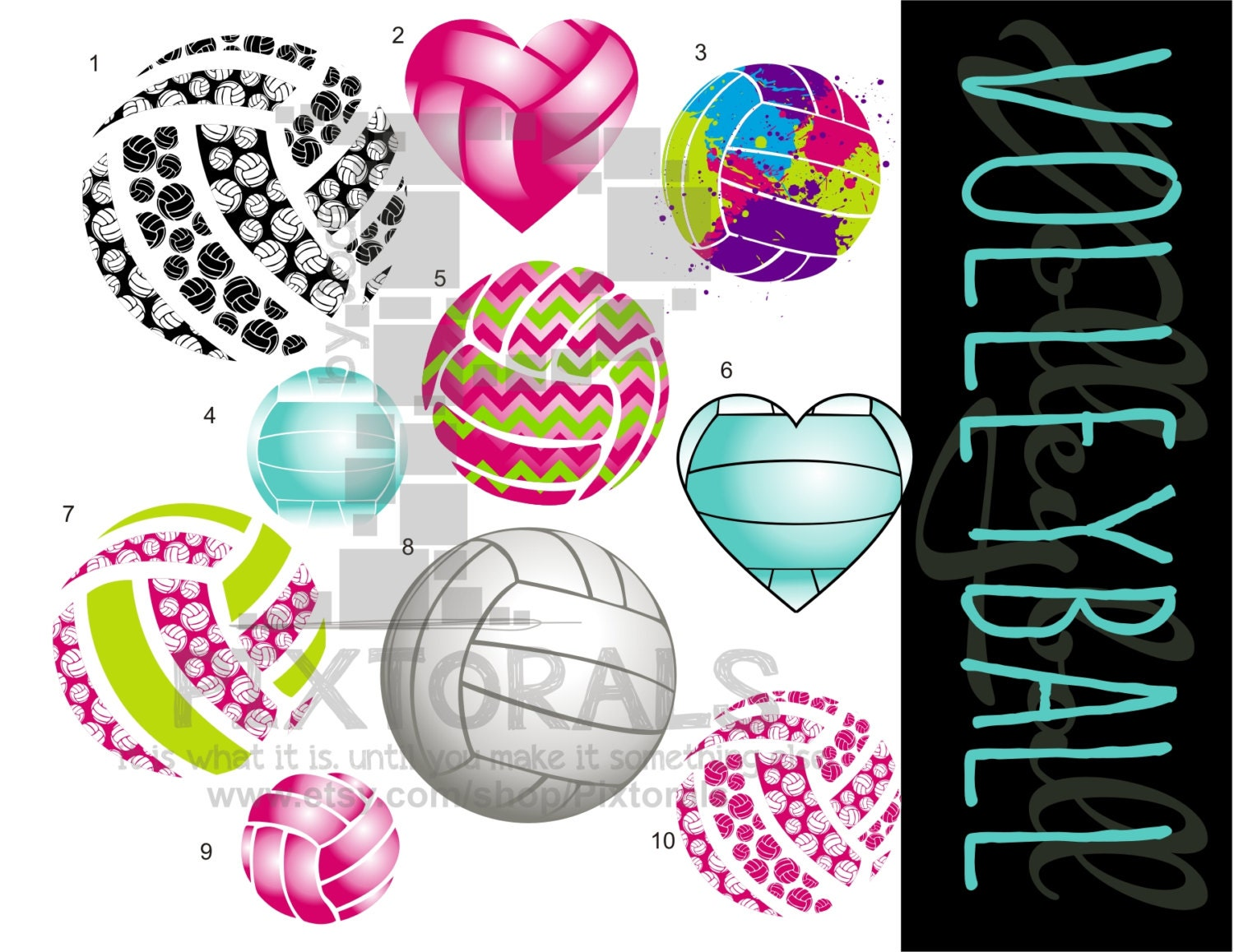 Volleyball Backgrounds: 10 Fun Volleyball Vectors PNG Transparent Backgrounds EPS