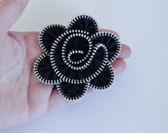 Zipper Flower Brooch