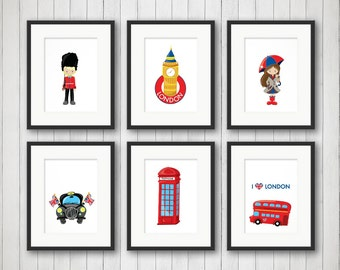 London Wall Art   London Decor   Boy Or Girl Room Decor   Childrenu0027s Iconic  Decor