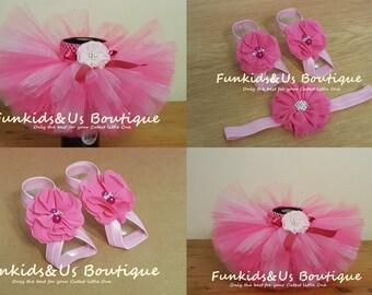 Pink and White Newborn Tutu Set - Perfect baby,toddler, girl photo prop