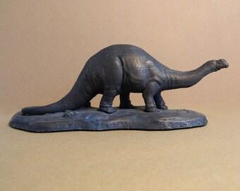 Apatosaurus former Brontosaurus 3d print painted bronze sculpture.