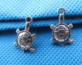 11mmx18mm Antique Silver tone Filigree Turtle Pendant/Hanging Charm/Finding,DIY Accessory Jewellry Making