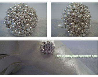 Pearl and Brooch Bouquet..