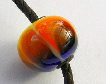 """Handmade Murano Glass Bead Lampwork Pendant """"Rainbow"""""""