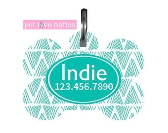 Personalized Pet Tag, Dog Tag, ID Tag, Tribal Pet Tag With Name And Phone Number