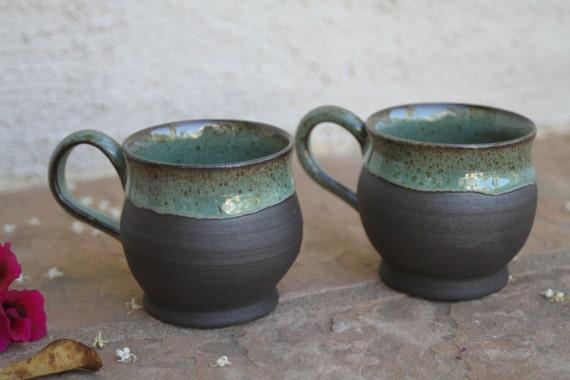 Black Clay Espresso Cup Set Handmade Ceramic Espresso Cups
