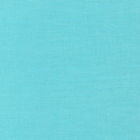 Organic Cloud 9 turquoise aqua blue solid plain colour cotton fabric fat quarter
