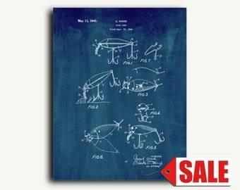 Patent Print - Fish Lure Patent Wall Art Poster