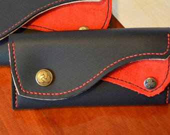 Hand Made Custom Made Leather Girls Wallet
