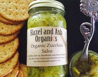 Organic Zucchini Salsa! Vegan, Gluten Free, Non GMO.