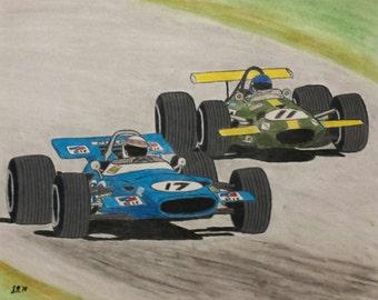 Ickx v. Stewart - Rivalry Series Part 4 - Print