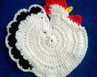 Crochet Chicken Pot Holder