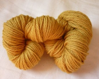 English mustard yarn: old Fustic hand dyed 100% pure merino DK wool