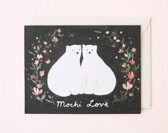 Mochi Love Polarbear Card