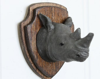 Unique Rhino Head Mount Related Items Etsy