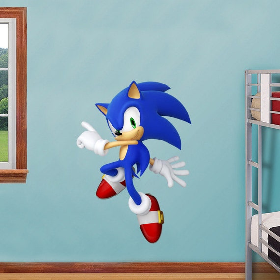 Sonic decal removable wall sticker by printadream on etsy - Sonic wall decals ...
