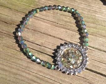 Glimmery Emerald Bracelet