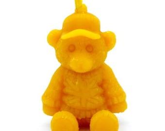 English Teddy Bear Shape Pure Beeswax Candle