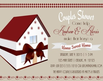 Couples Bridal Shower Invitation • His & Her • Home Sweet Home • DIY or Printed Invitations by Fab Party Prints