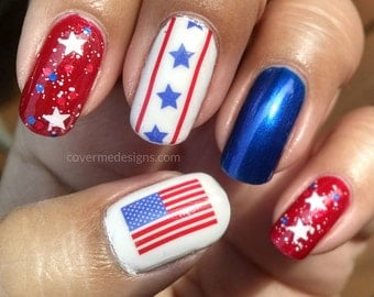 Made In America - Water Slide Nail Decals
