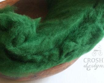 Newborn photography wool fluff, baby photography wool fluff, wool stuffer, basket filler, layering blanket, newborn wrap, perendale wool
