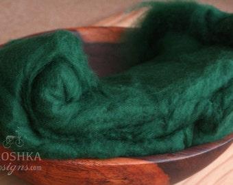 Newborn photography wool fluff, baby photography wool fluff, wool stuffer, basket filler, layering blanket, newborn wrap, merino wool