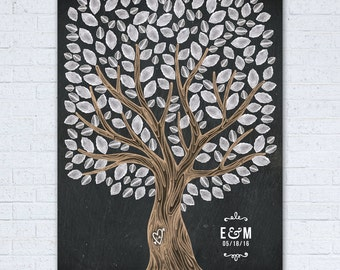 Wedding Guest Book Tree - Wedding Guest Book Tree Poster - Wedding Guest Book Tree Sign