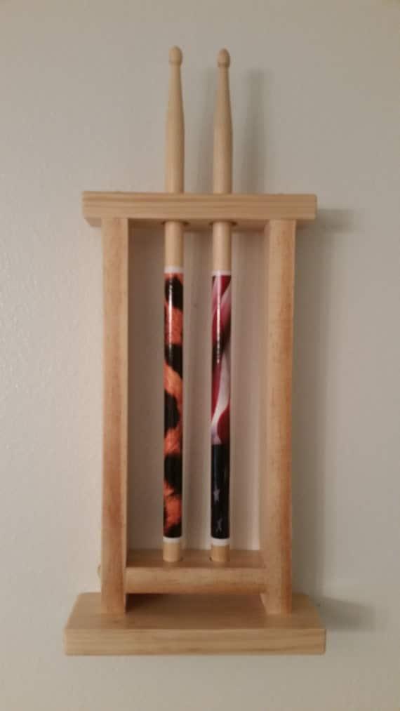items similar to drum stick display drumstick holder holds 2 sticks wall mount version. Black Bedroom Furniture Sets. Home Design Ideas