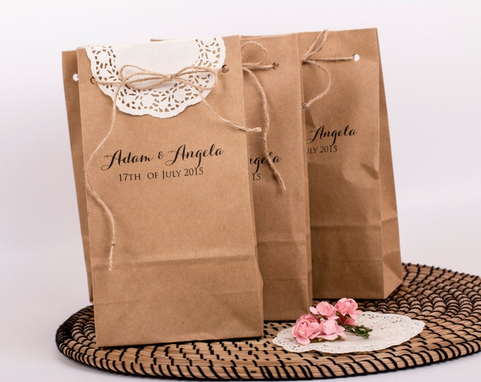custom paper bags wedding
