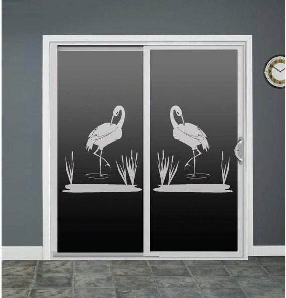 Whooping Crane Bird Glass Door Decals Window Decal Sliding