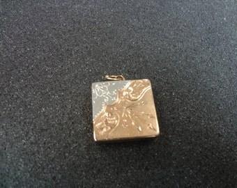 Amazing 14k Gold Square Locket