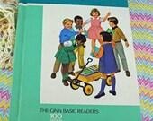"1966 Ginn Basic Reader ""On Cherry Street"" School Book SIMILAR To Previous Dick and Jane Books, Gift for Teachers, Reading Book  #4"