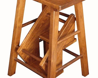 wood step stool etsy. Black Bedroom Furniture Sets. Home Design Ideas